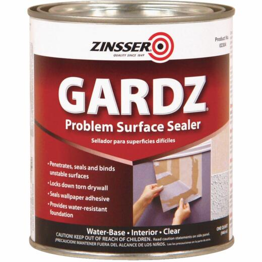 Zinsser Gardz Water Based Low Odor Drywall Sealer, 1 Qt.