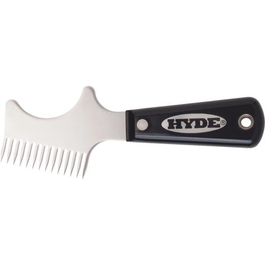 Hyde Black & Silver Stainless Steel Brush & Roller Cleaner