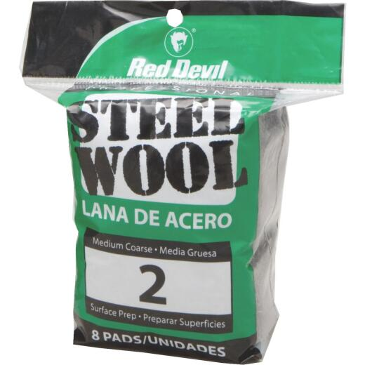 Red Devil #2 Steel Wool (8 Pack)