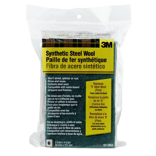 3M #0 Synthetic Steel Wool (6 Pack)