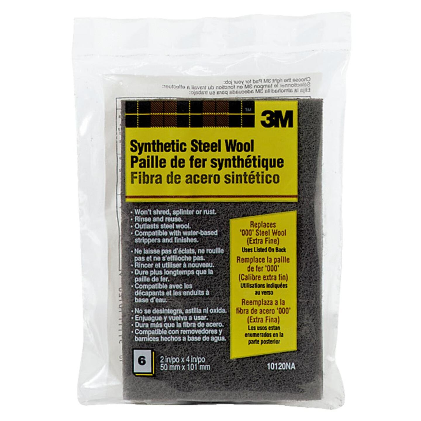 3M #000 Synthetic Steel Wool (6 Pack) Image 1