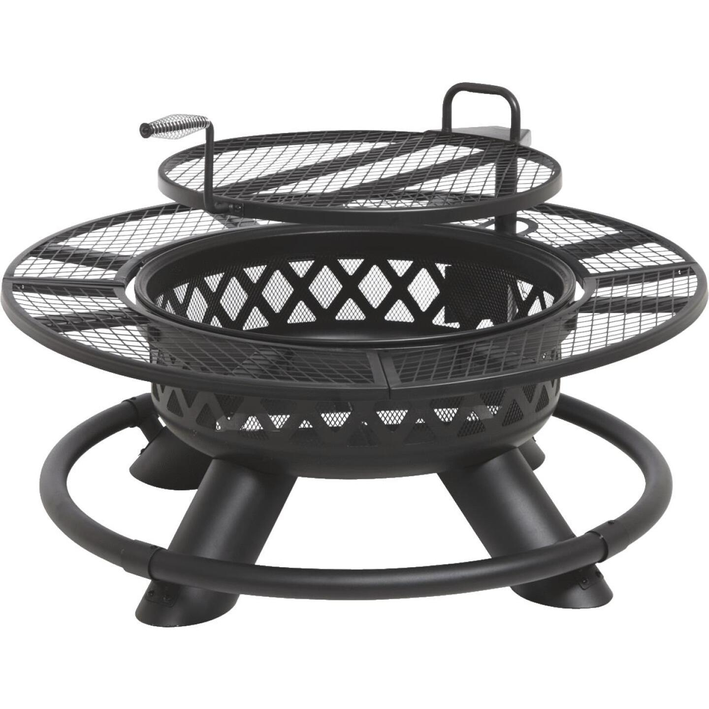 Big Horn 47 In. Camp Black Round Steel Fire Pit Image 1