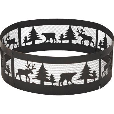 """Outdoor Expressions 36"""" Antique Bronze Steel Fire Ring"""