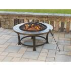 Outdoor Expressions 34 in. Antique Bronze Round Steel Fire Pit Image 2