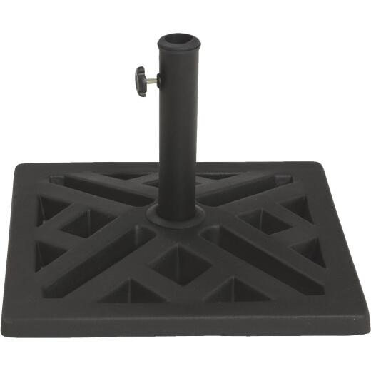 Outdoor Expressions 17 In. Square Black Polyresin Umbrella Base