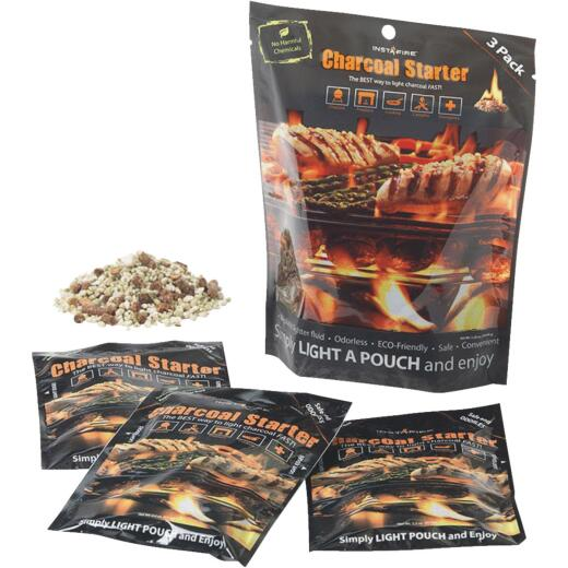 InstaFire 2.2 Oz. Packets Dry Charcoal Starter (3-Pack)