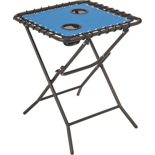 Outdoor Expressions Blue 18 In. Square Steel Folding Side Table