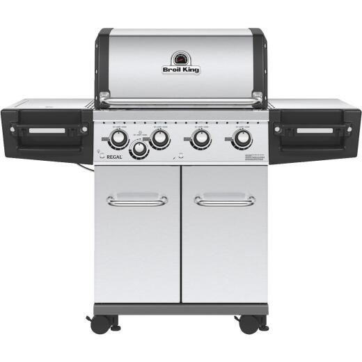 Broil King Regal S440 Pro 4-Burner Stainless Steel 50,000-BTU LP Gas Grill with 10,000-BTU Side Burner