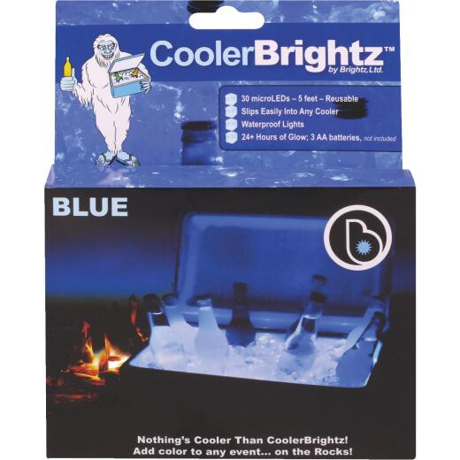 Cooler Brightz Blue MicroLED 30-Bulb 5Ft. Cooler Light Set