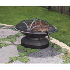 Outdoor Expressions 35 In. Antique Bronze Round Steel Fire Pit Image 4