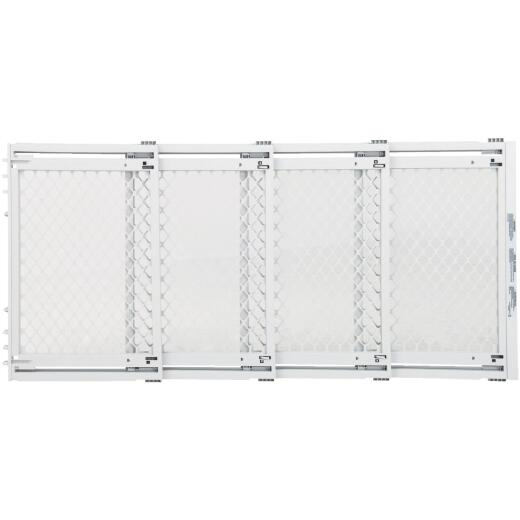 North States 22 In. to 62 In. W. White Plastic Extra Wide Pet Gate