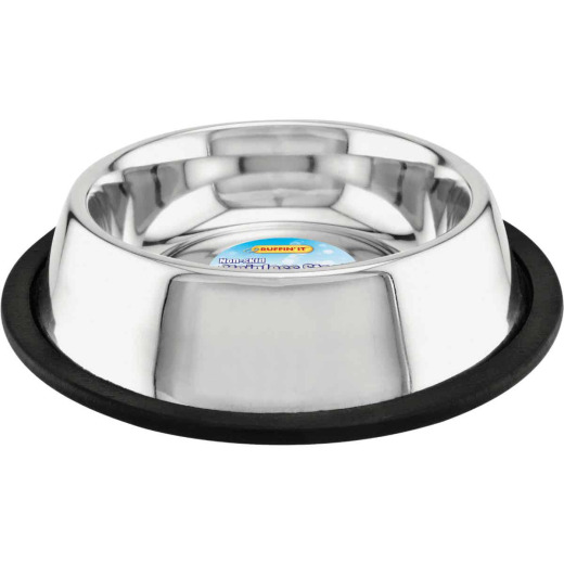Westminster Pet Ruffin' it Stainless Steel Round 16 Oz. Non-Skid Pet Food Bowl