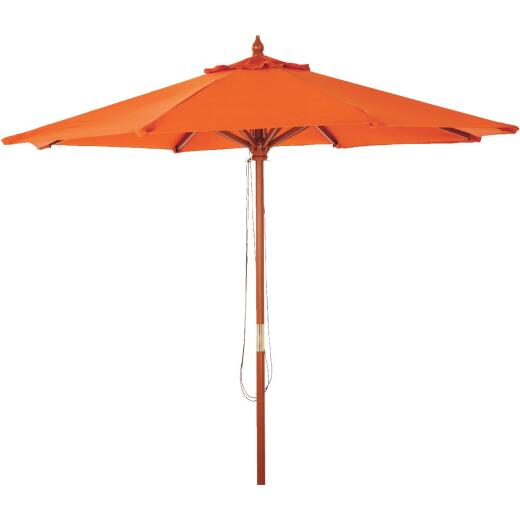 Outdoor Expressions 7.5 Ft. Pulley Spice Market Patio Umbrella with Brass Plated Hardware