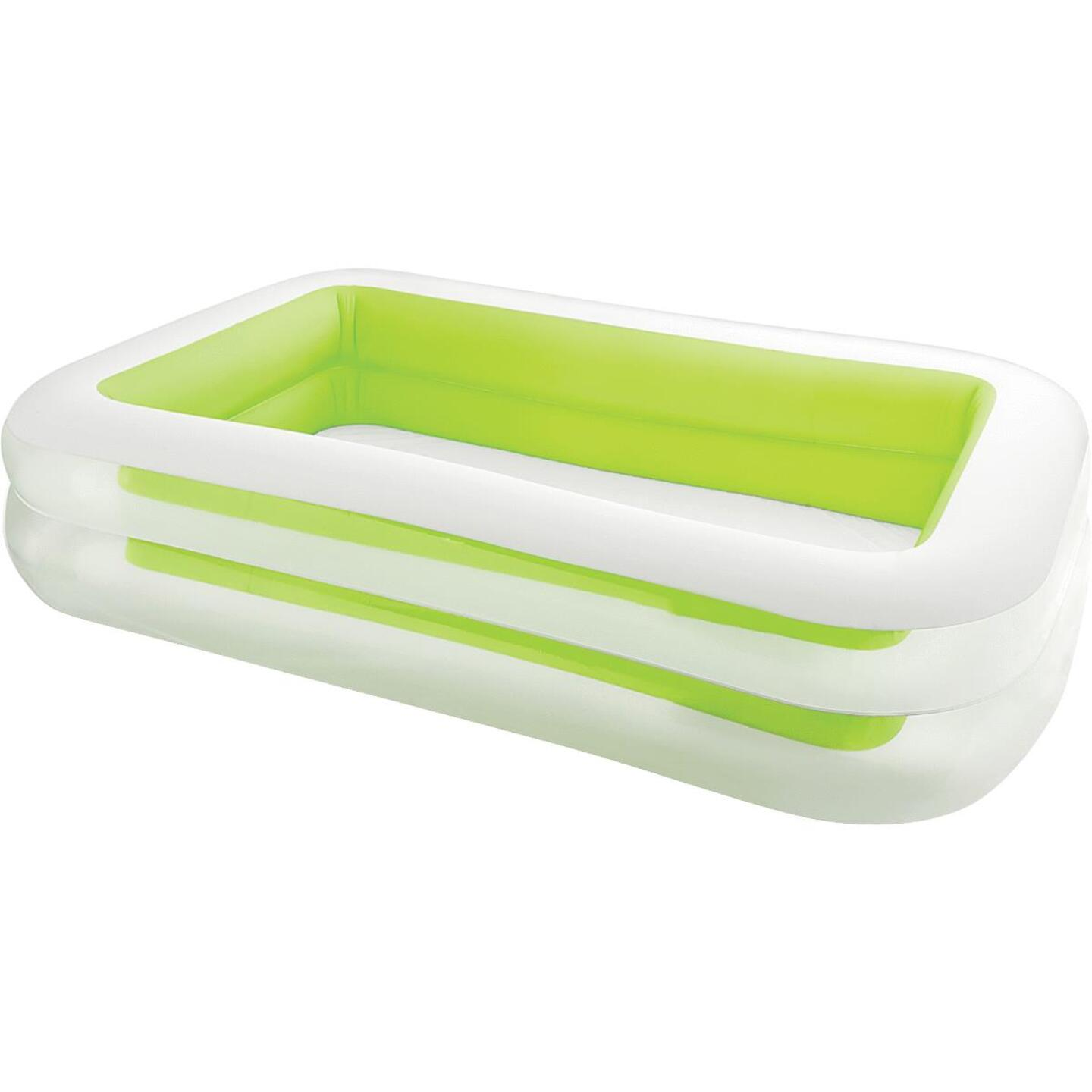 Intex 69 In. W. x 103 In. L. x 22 In. D. Green Vinyl Family Inflatable Swimming Pool Image 1