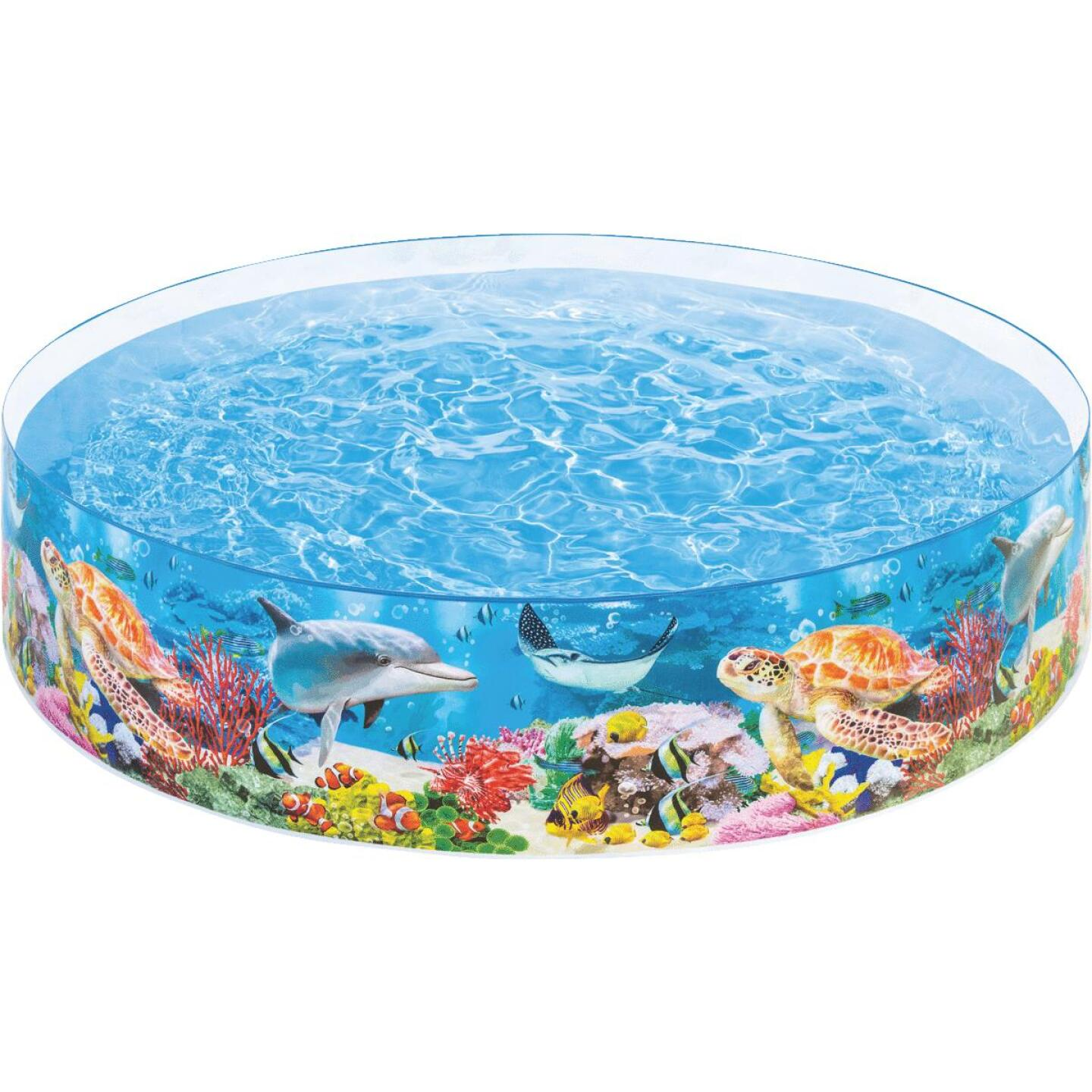 Intex 18 In. D. x 8 Ft. Dia. Polyethylene Deep Blue Sea Snapset Pool Image 3