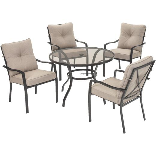 Outdoor Expressions Harrison 5-Piece Cushion Dining Set