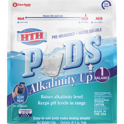 HTH 8 Oz. Pre-Measured Water Soluble Alkalinity Up Pods