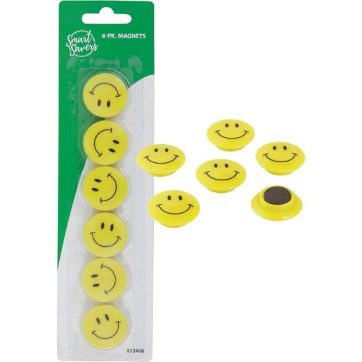 Smart Savers 1.18 In. Dia. Yellow Magnets (6-Pack)