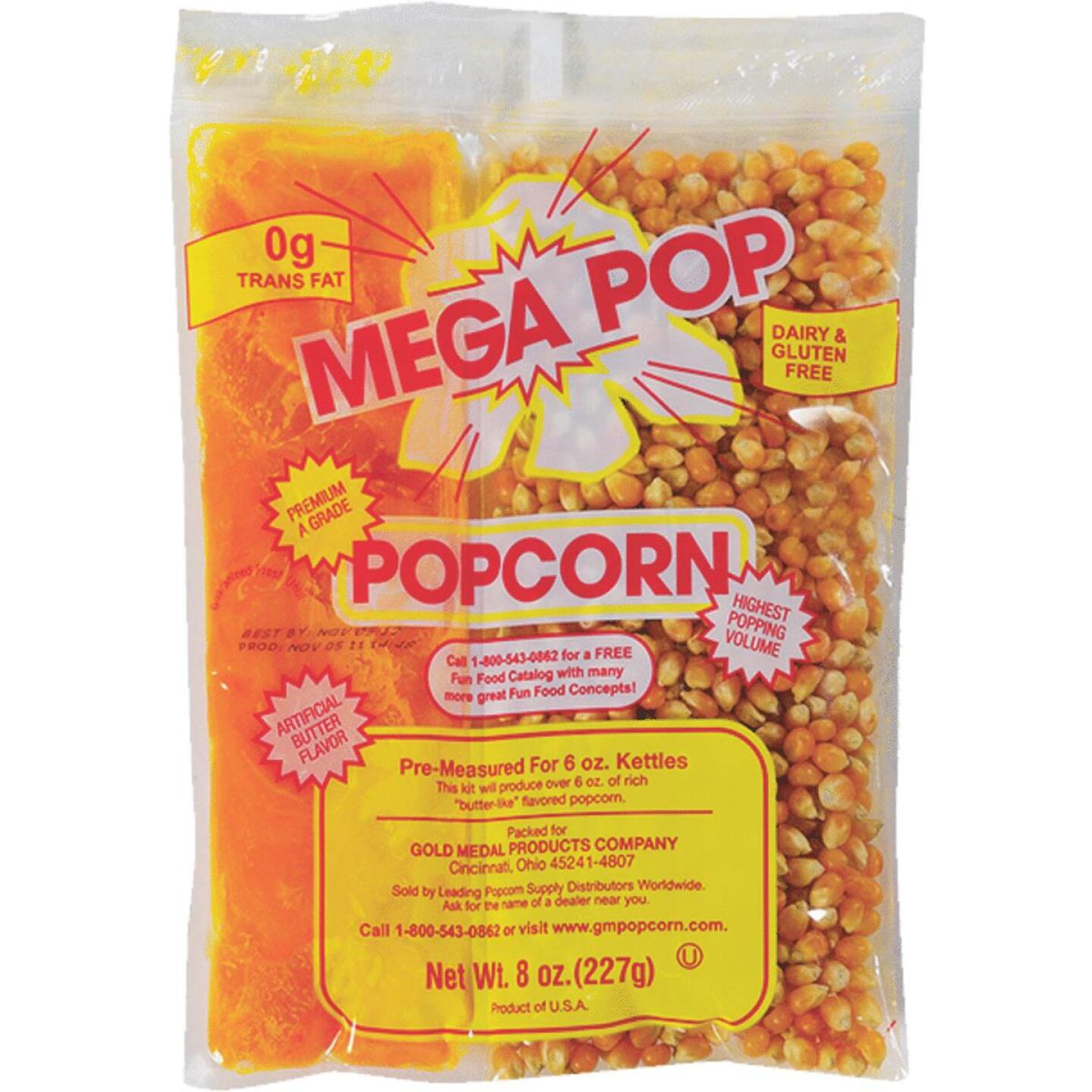 Gold Medal Mega Pop 6 Oz. Popcorn Kit (36 Kits) Image 1